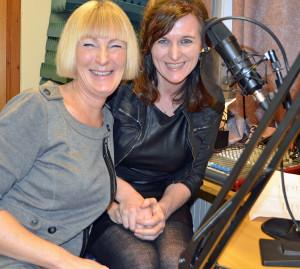 Her i radiostudio til Knut Jeppsson i Radio Riks