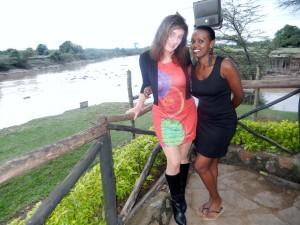 Sharon løp både Ndaikaini maraton og Masai mara Marathon med meg.
